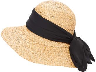 Dnmc DNMC Women's Sunhats Black - Black Straw UPF 50+ Floppy Hat