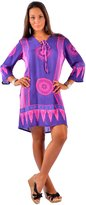 1 World Sarongs Womens Floral Tunic Cover-Up in