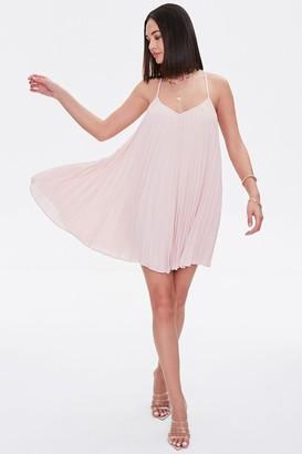 Forever 21 Pleated Mini Shift Dress