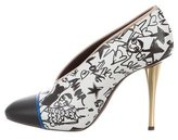 Lanvin Leather Printed Pumps