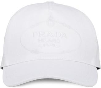 Prada Embroidered Logo Baseball Cap