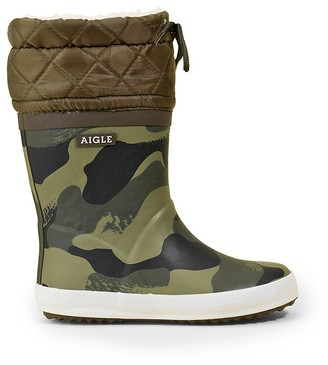Aigle Kids Giboulee Boots with Faux Fur Lining