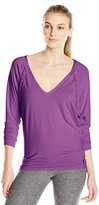 Trina Turk Recreation Women's Draped Jersey Dolman Long Sleeve Top