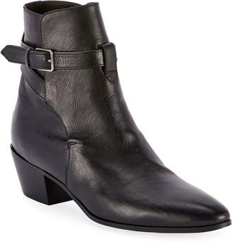 Saint Laurent West Jodhpur Leather Booties