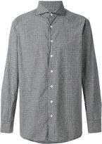 Lardini club collar checked shirt - men - Cotton - 38