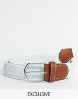 Reclaimed Vintage Woven Belt - White