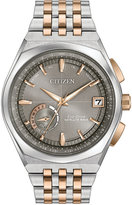 Citizen Eco-Drive Men's Satellite Wave Two-Tone Stainless Steel Bracelet Watch 44mm CC3026-51H