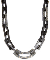 Maiyet Black Horn & 19.00 Total Ct. Diamond Link Necklace