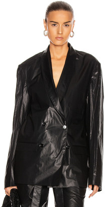 Lemaire Double Breasted Jacket in Black | FWRD