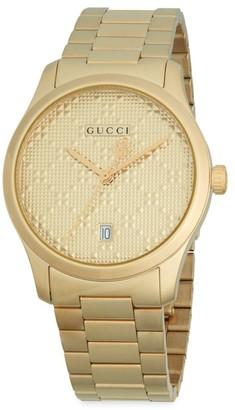 Gucci G-Timeless Goldtone Stainless Steel Bracelet Watch