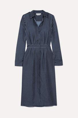 Gabriela Hearst Polka-dot Silk-twill Midi Dress - Navy