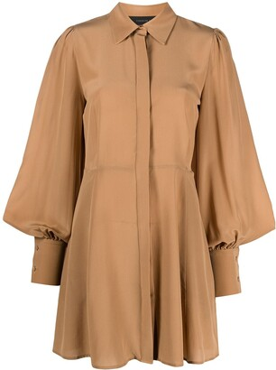 FEDERICA TOSI Long-Sleeve Shirt Silk Dress