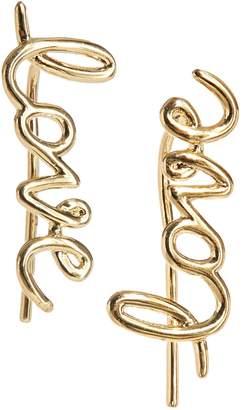 """Kate Spade Say Yes Goldtone """"Love"""" Dangling Earrings"""
