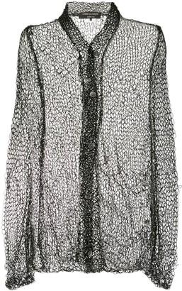 Comme Des Garçons Pre Owned Open Knit Cardigan