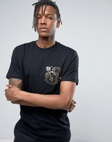 Vans 50th Pocket Print T-shirt In Black