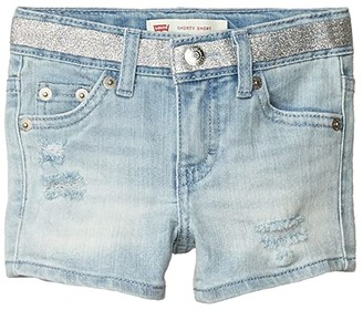 Levi's(r) Kids Denim Shorty Shorts (Little Kids) (Waltz) Girl's Clothing