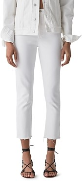 AGOLDE Riley High Rise Straight Jeans in Blurred