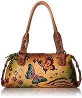 Anuschka Anna by Handpainted Leather Top Zip Satchel