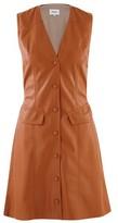 Nanushka Menphi short dress in vegan leather