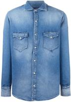 (+) People +People - patch pocket denim shirt - men - Cotton - 40