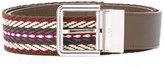 Furla buckled belt - women - Cotton/Calf Leather/Acetate - One Size