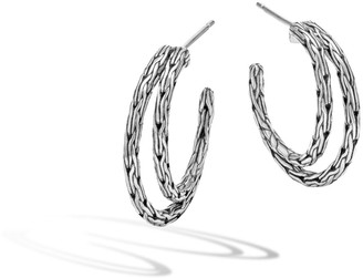 John Hardy Classic Chain Small Double-Hoop Earrings