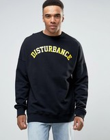 Pull&bear Sweatshirt With Disturbance Slogan In Black