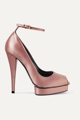 Tom Ford Satin Platform Pumps - Pink