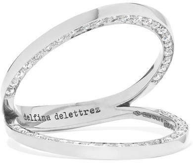 Delfina Delettrez 18-karat White Gold Diamond Ring - Silver