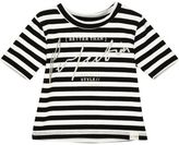 River Island Mini girls white stripe t-shirt
