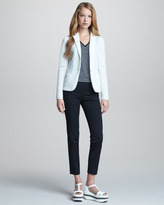 Jil Sander Navy Sporty Mesh-Weave Jacket