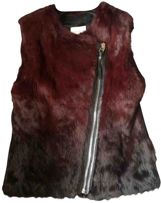 Sandro Red Rabbit Leather jackets
