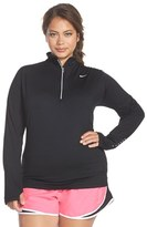 Nike Plus Size Women's 'Element' Dri-Fit Half Zip Running Top