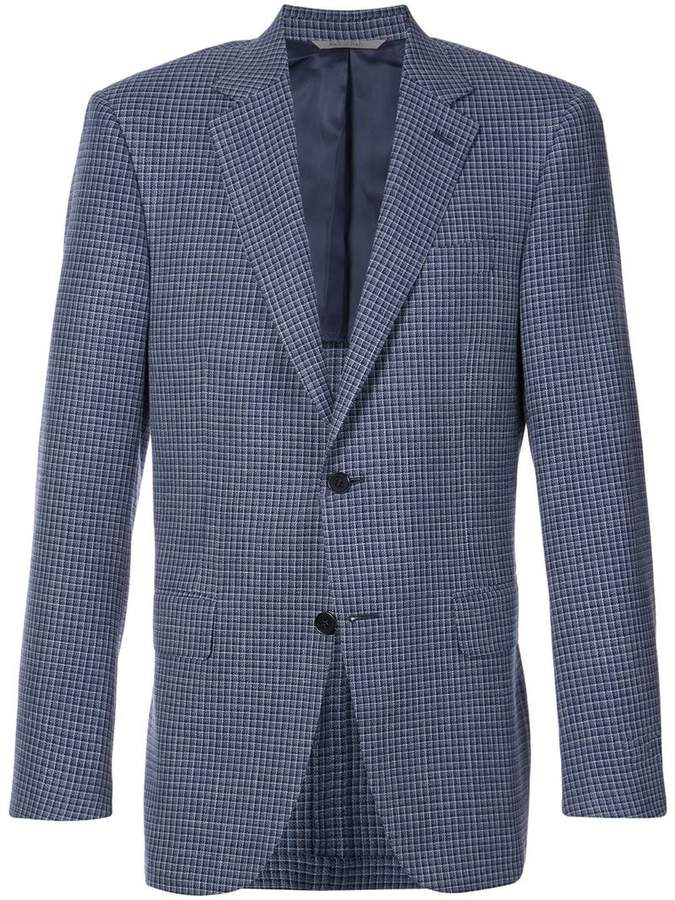 Canali grid check jacket