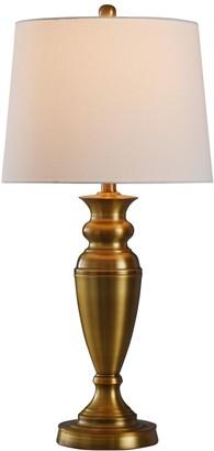 Stylecraft Brushed Nickel Table Lamp 2-Piece Set