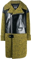 Thumbnail for your product : Junya Watanabe Herringbone Panelled Midi Coat