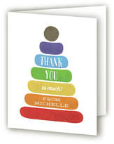 Minted Classic Stacking Toy Baby Shower Thank You Cards