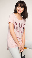 Esprit OUTLET floaty printed jersey t-shirt