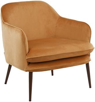 Pols Potten Charmy Velvet Armchair - Gold