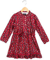 Oscar de la Renta Girls' Floral Print A-Line Dress