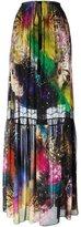 Roberto Cavalli drawstring 'fireworks' printed skirt