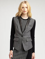 Yigal Azrouel Cut 25 by Leather-Trimmed Blazer