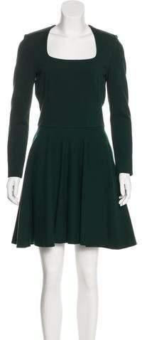 Alexander McQueen Virgin Wool A-Line Dress