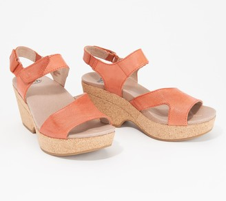 Earth Leather Platform Sandals - Khaya Kella