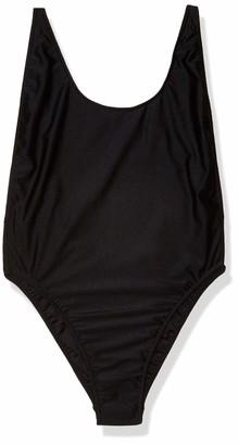 American Apparel Women's Nylon Tricot High-Cut Sleeveless One-Piece