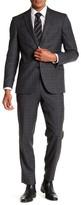 Ted Baker Jones Grey Plaid Trim Fit Wool Suit