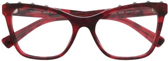 Valentino Rockstud cat-eye frame glasses