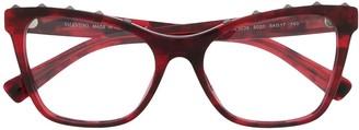 Valentino Eyewear Rockstud cat-eye frame glasses