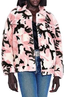 Apparis Teresa Camo Faux Shearling Jacket