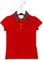 Gucci Kids - contrast collar polo shirt - kids - Cotton/Spandex/Elastane - 8 yrs
